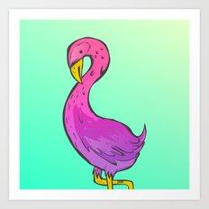 Summer Flamingo Art Print