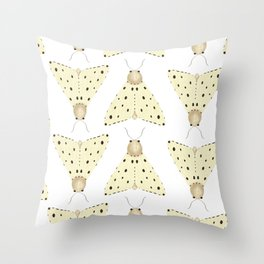 Natural tone Lepidoptera Pattern (Part 3 of 3) Throw Pillow