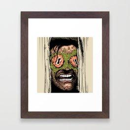 Shining Eye Holes Framed Art Print