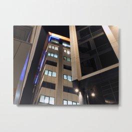 modern architecture - city at night - bond court leeds Metal Print