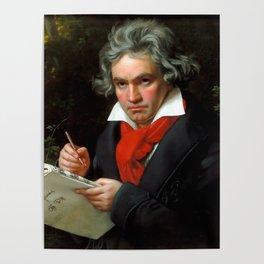 Ludwig van Beethoven (1770-1827) by Joseph Karl Stieler, 1820 Poster