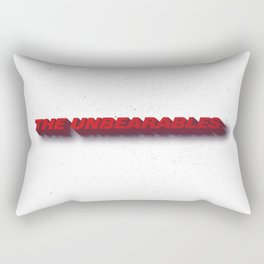 Unbearables Distressed Typography Rectangular Pillow