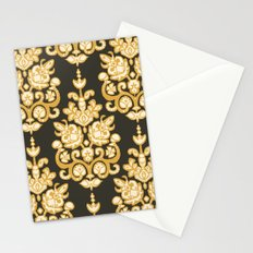 Kanak damask ikat Stationery Cards