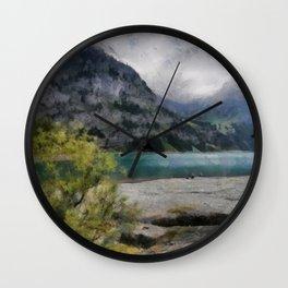 The Beautiful lake Oeschinensee in Kandersteg Switzerland Wall Clock