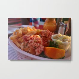 Lobster Roll and Fries Metal Print