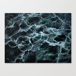 Waves Marble (Color) Canvas Print