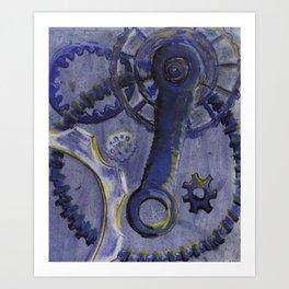 Purple Bolts Art Print