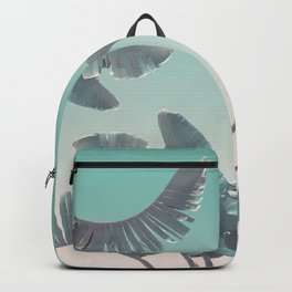 Tropical Palm Leaves In Pastel Light Backpack