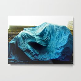 Billowing Blue Tarp 1 Metal Print