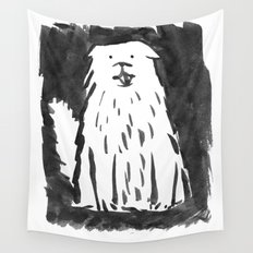 fluffy dog Wall Tapestry