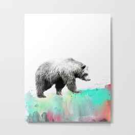 Wild No. 1 // Bear Metal Print
