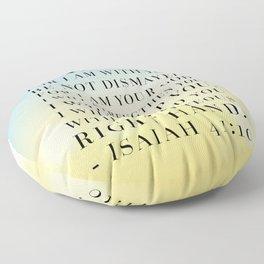 Isaiah 41:10 Bible Quote Floor Pillow