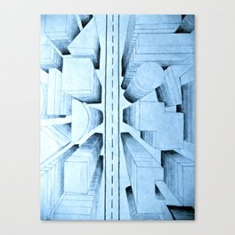 bird's-eye view Canvas Print