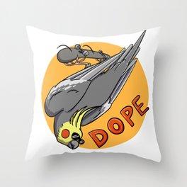 SkateBirder Throw Pillow