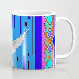 Peace Dove in Blue Ornate Art Pattern Coffee Mug