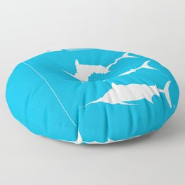 Oldman And The Sea Floor Pillow
