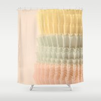 cupcake Shower Curtains featuring Cupcake by Melissa Lund