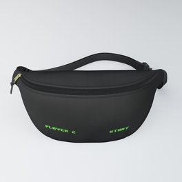 Cool Retro Gamer Gaming Player 1 and Player 2 Design Fanny Pack