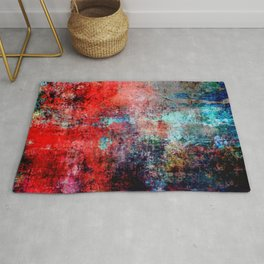 Modern  Red Abstract Design Rug
