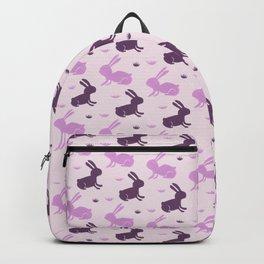Bunny pattern - Purple Backpack