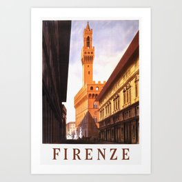 Vintage Florence Italy Travel Art Print