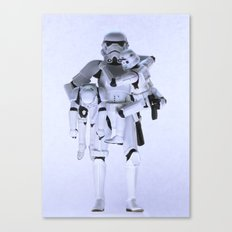 Trooper with Kids Canvas Print