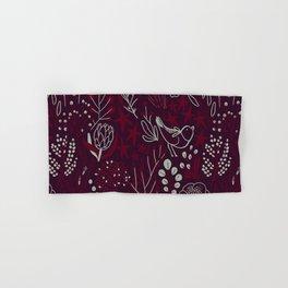 Burgundian winter holiday mood. Hand & Bath Towel