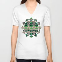 bamboo V-neck T-shirts featuring Bamboo by Zandonai Pattern Designs