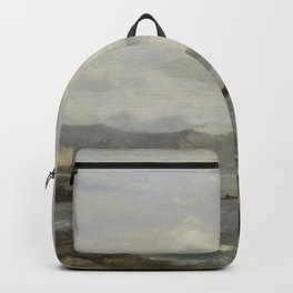 Gustave Courbet - View of Lake Geneva Backpack
