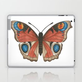 Peacock Butterfly Illustration Laptop & iPad Skin