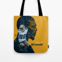 nfl Tote Bags featuring Dez Bryant by bonggg