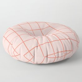 Grid Pattern Peach Floor Pillow