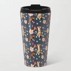 Fox and flowers Travel Mug