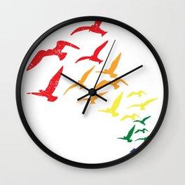 Birds Free LGBT Equal Gaypride Future Gift Wall Clock