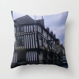 Vintage England Art Print * Kodachrome * 1950's * Falcon Hotel * Stratford * European Photography Throw Pillow
