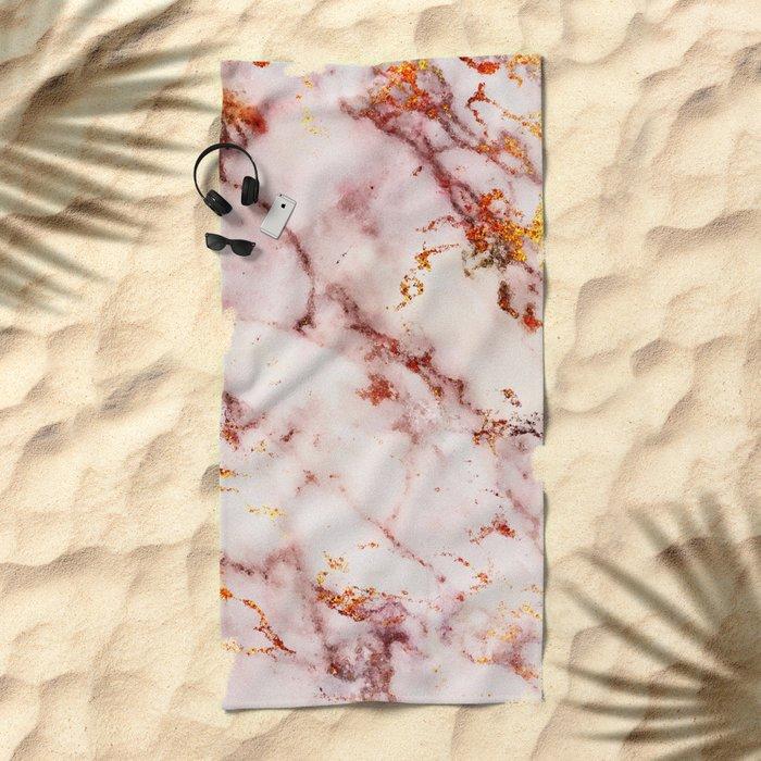 Marble Effect #4 Beach Towel