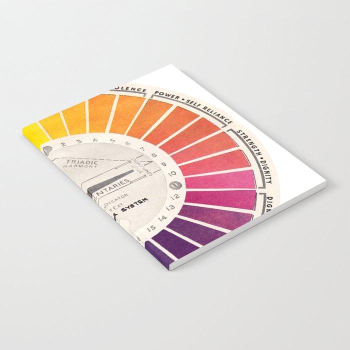 Vintage Color Wheel - Art Teaching Tool - Rainbow Mood Chart Notebook