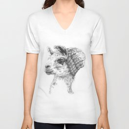 Wooly Llama Unisex V-Neck