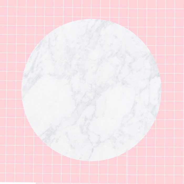 Pink, Grid & Marble Moon Duvet Cover