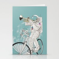 louis armstrong Stationery Cards featuring armstrong by mauro mondin