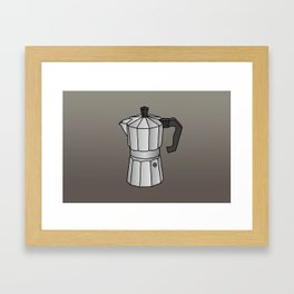 Espresso coffee maker Framed Art Print