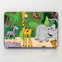 jungle iPad Cases featuring JUNGLE by Rebecca Bear