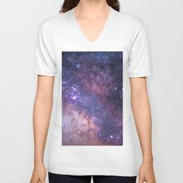 Purple Galaxy Star Travel Unisex V-Neck