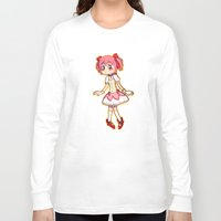 madoka Long Sleeve T-shirts featuring Our Lord & Savior Madoka by TouchPadArt