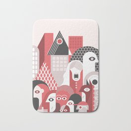 People in the City Bath Mat