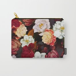 Vintage & Shabby Chic -Midnight Botanical Night Flower Garden  Carry-All Pouch
