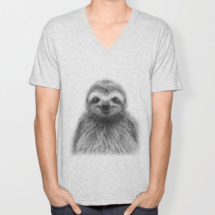 Young Sloth Unisex V-Neck