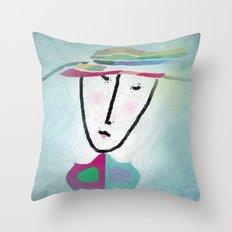matching hat Throw Pillow