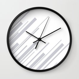 Diagonals - Grey Wall Clock