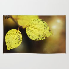 yellow leaves. Rug